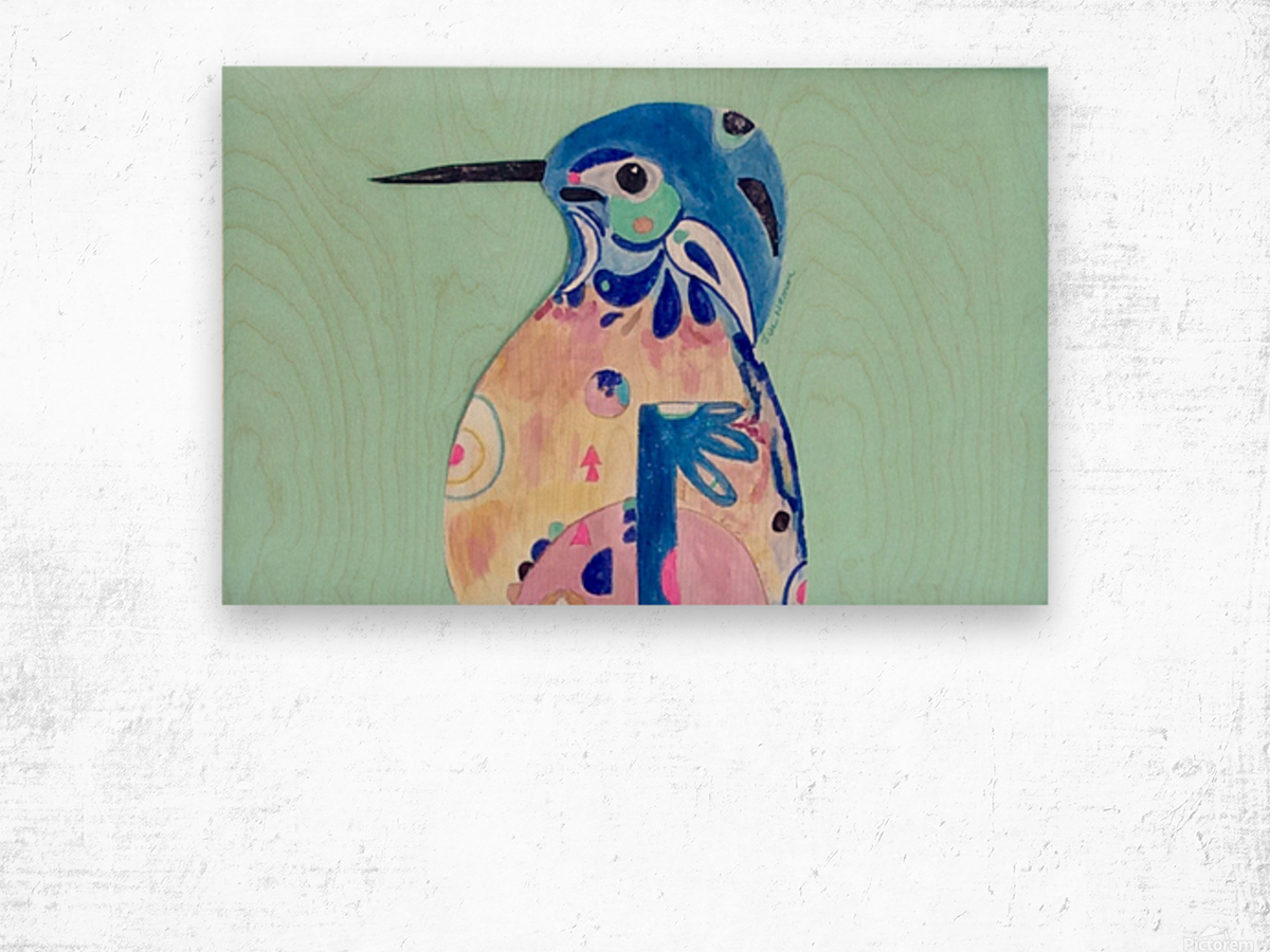 Azure Kingfisher  Wood print