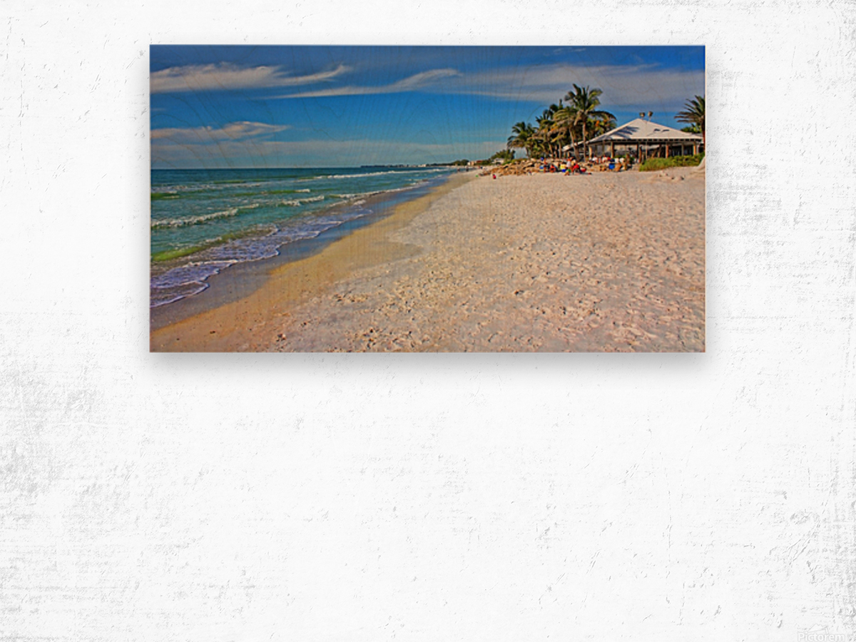 Beach Time  Wood print