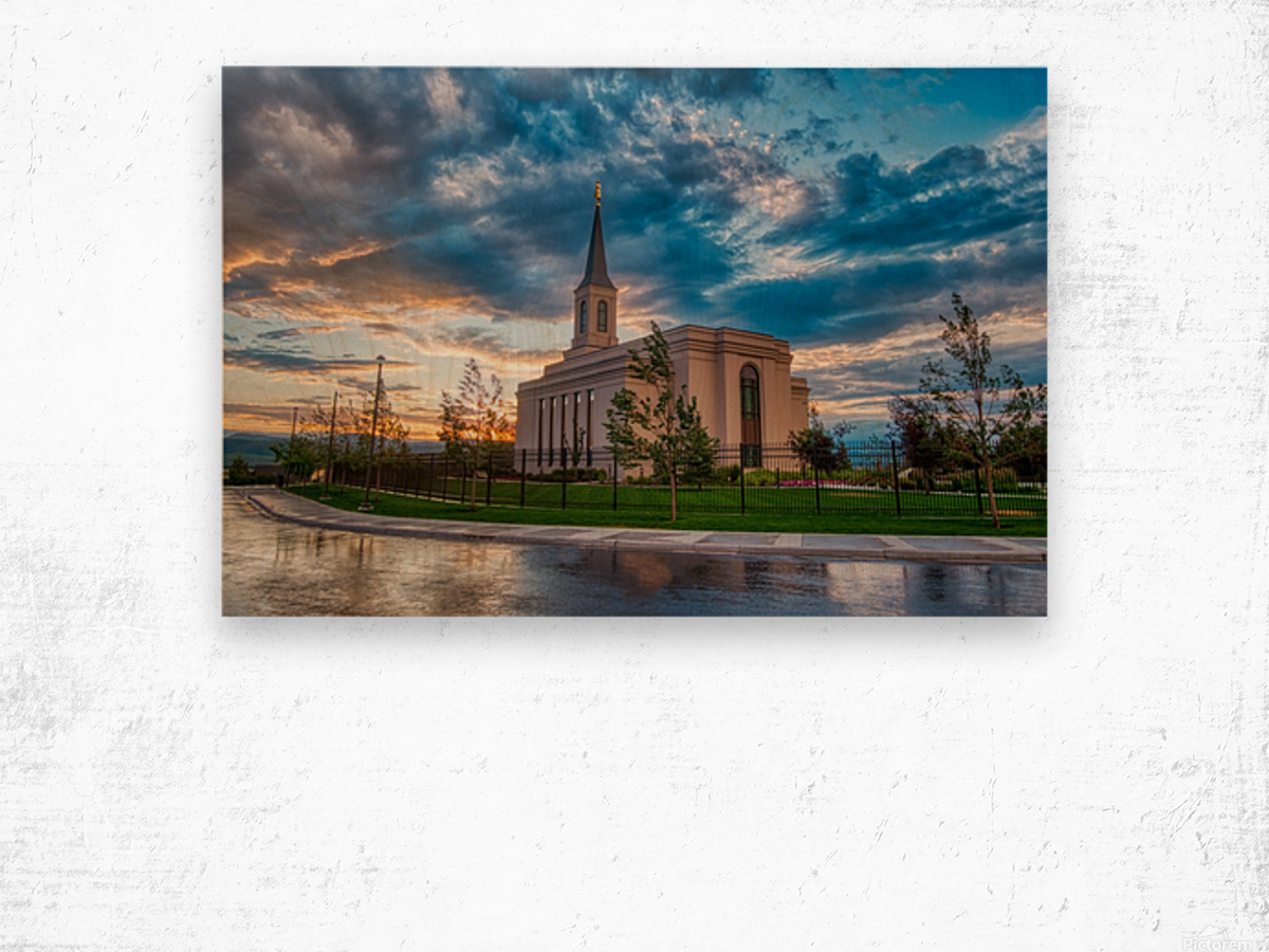 Star Valley Wyoming Temple - The Church of Jesus Christ of Latter-day Saints Wood print