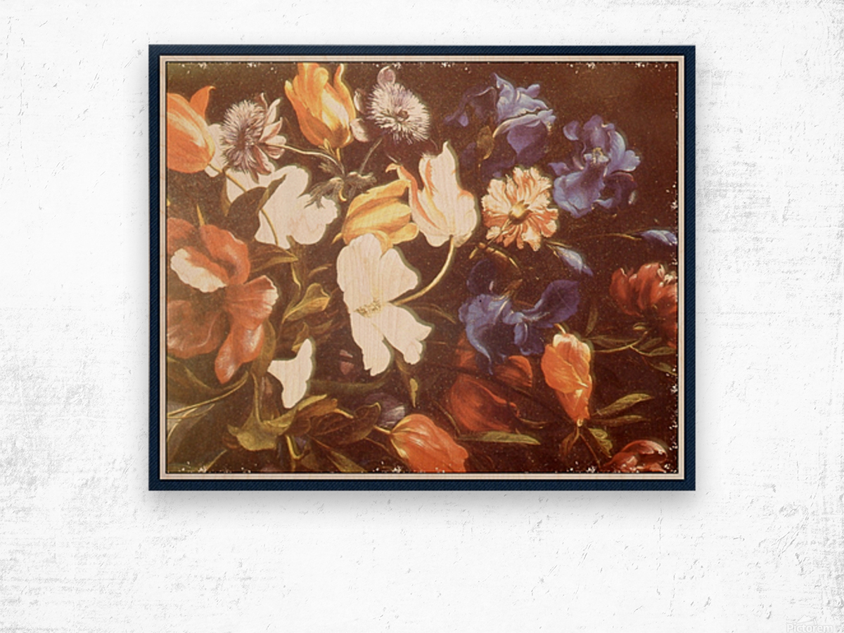 Brilliant Floral Display Wood print