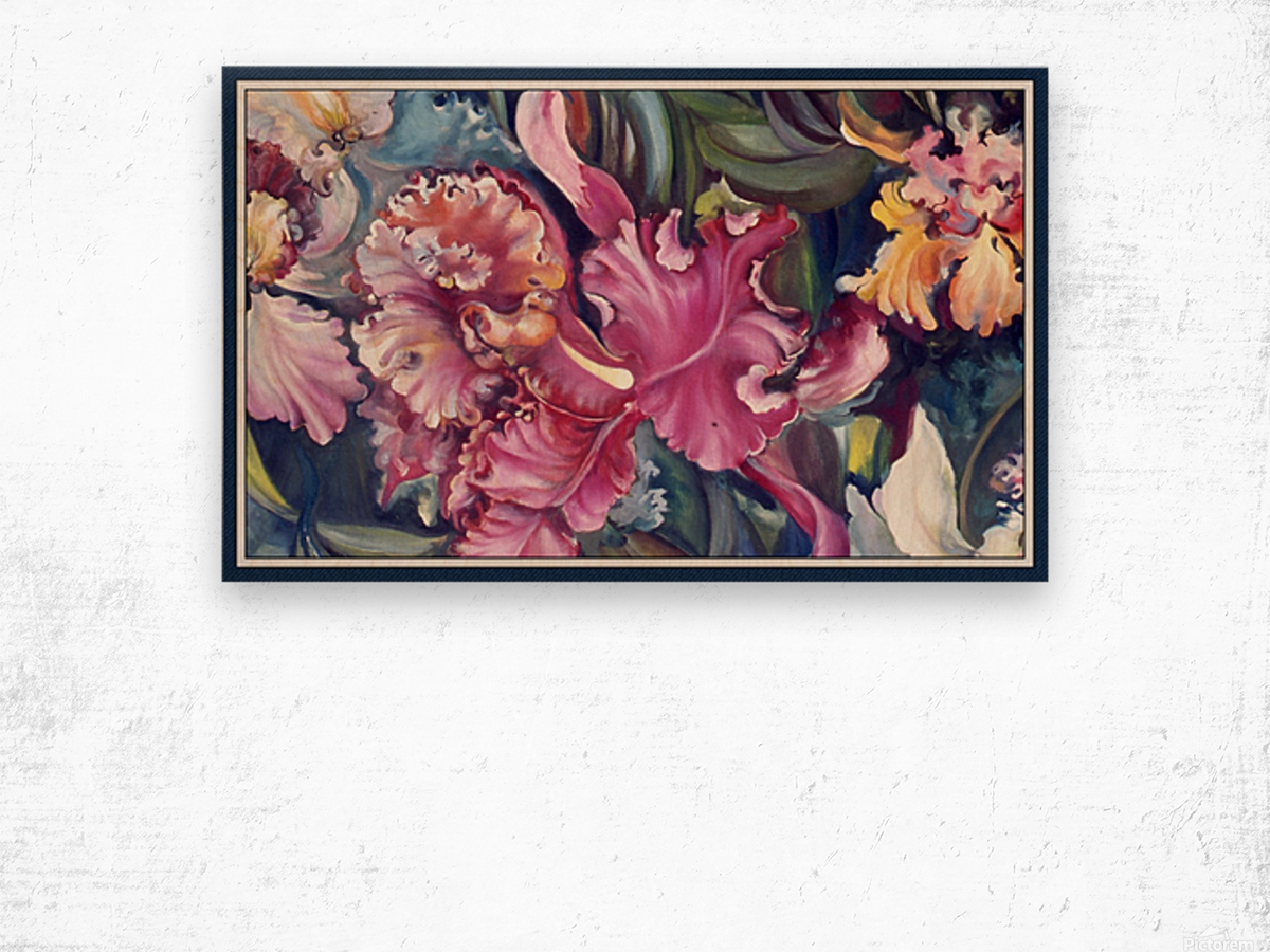 Orchids Blooming  Wood print