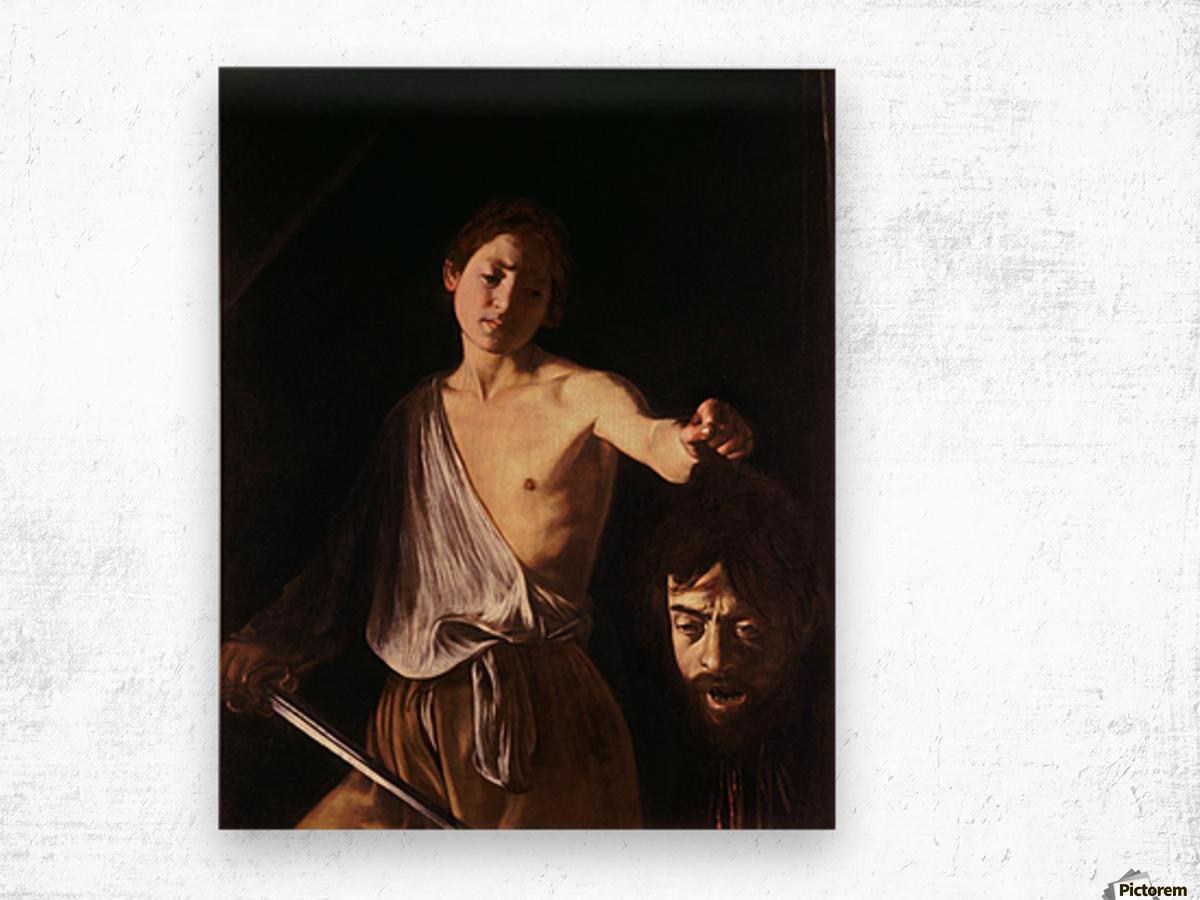 David con la testa di Golia Wood print