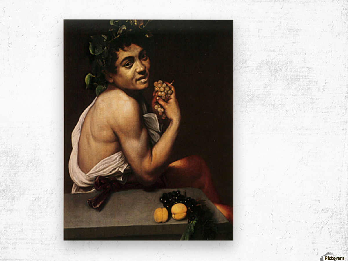 Young Sick Bacchus Wood print
