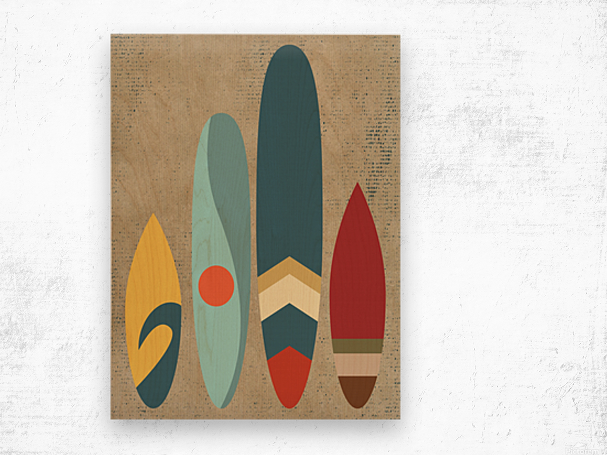 New day new waves Wood print