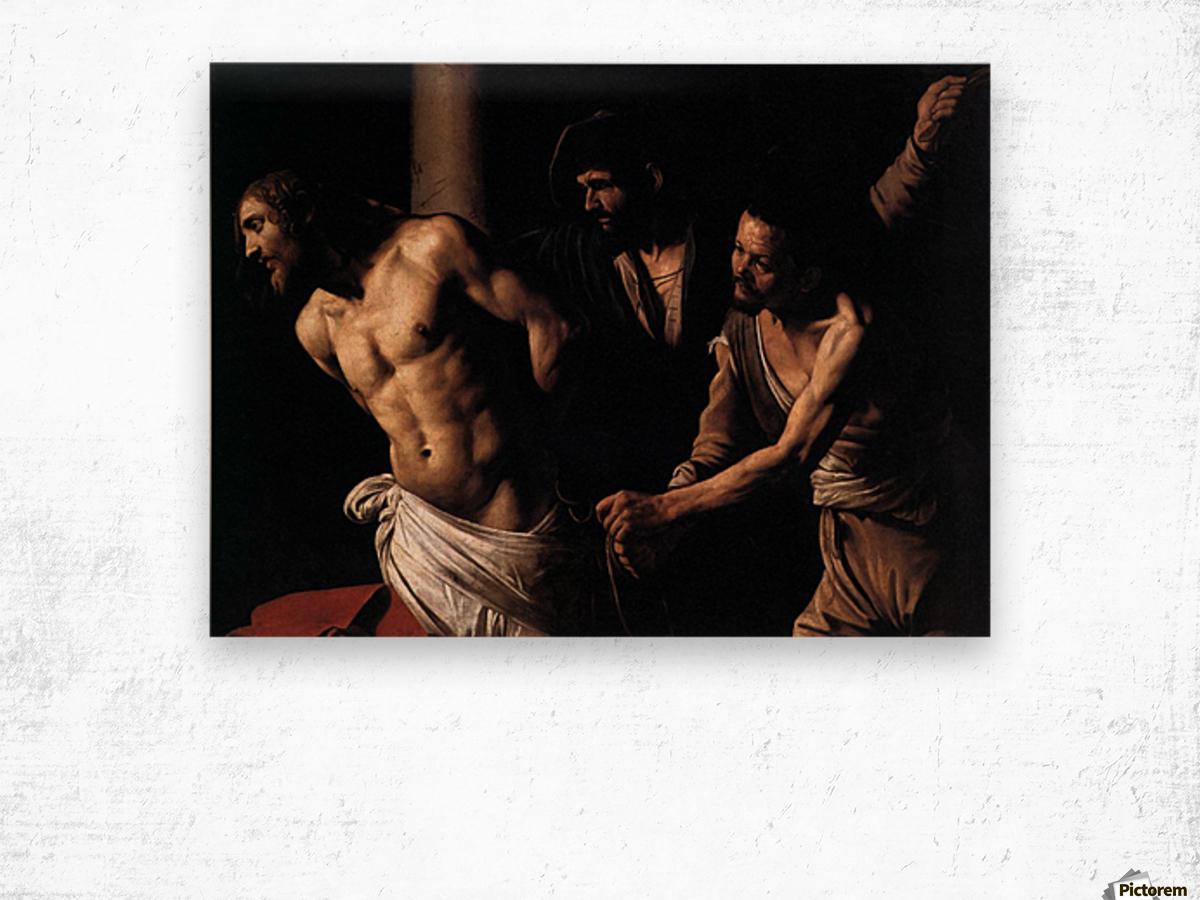 Christ at the column Wood print