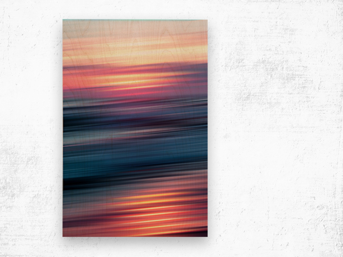 Abstract Sunset XII Wood print