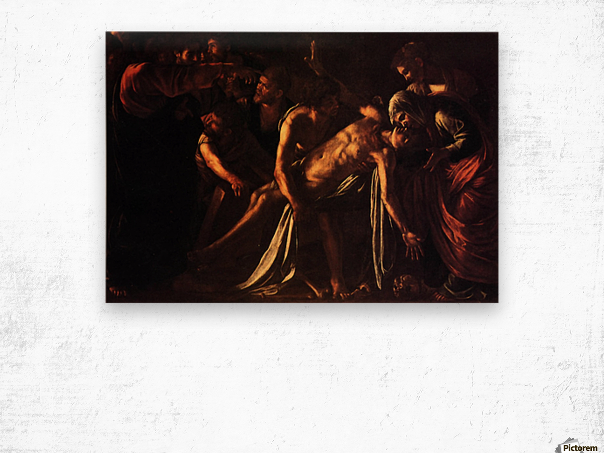 The ressurection of Lazarus Wood print