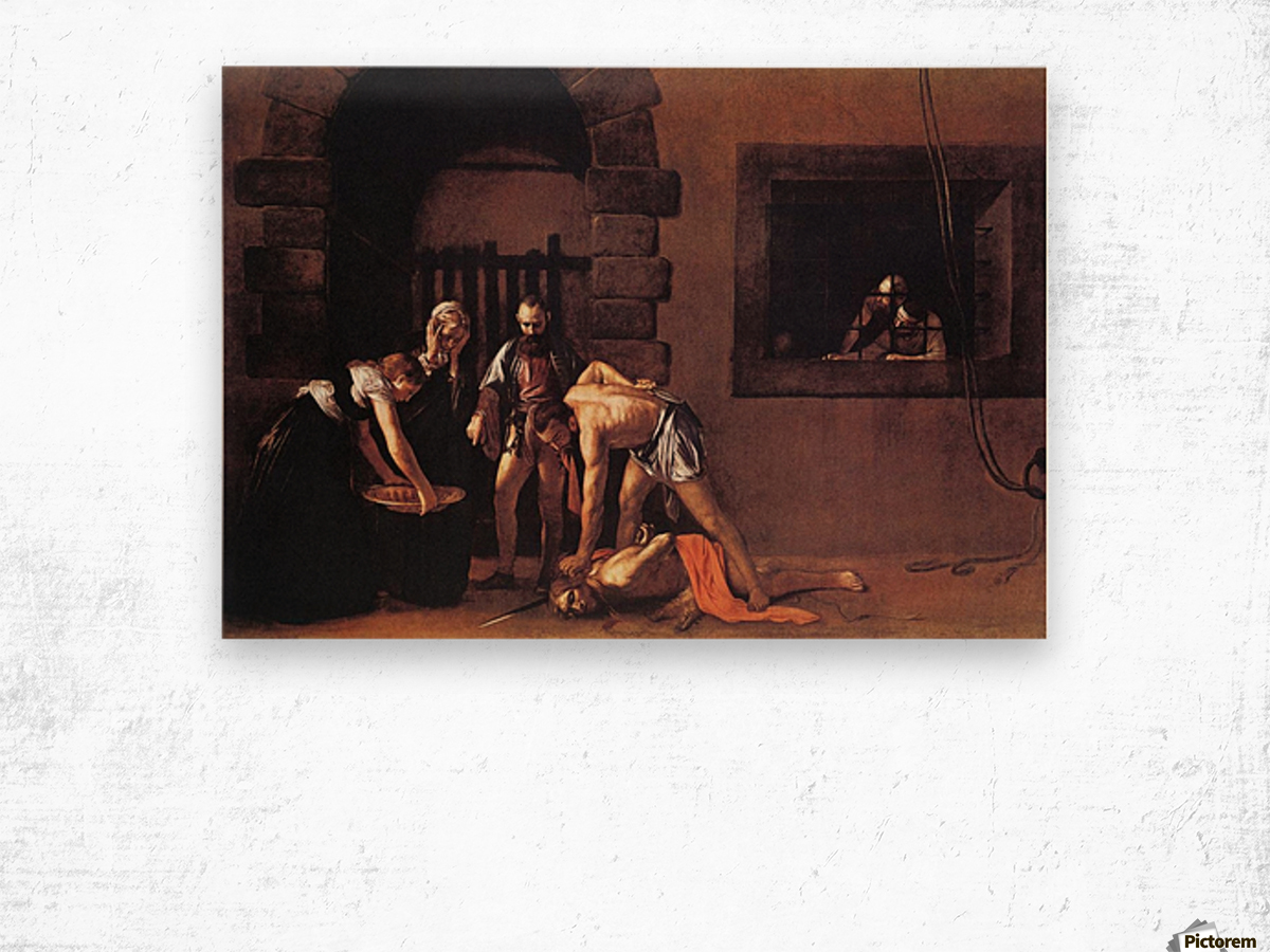 Beheading of Saint John the Baptist Wood print