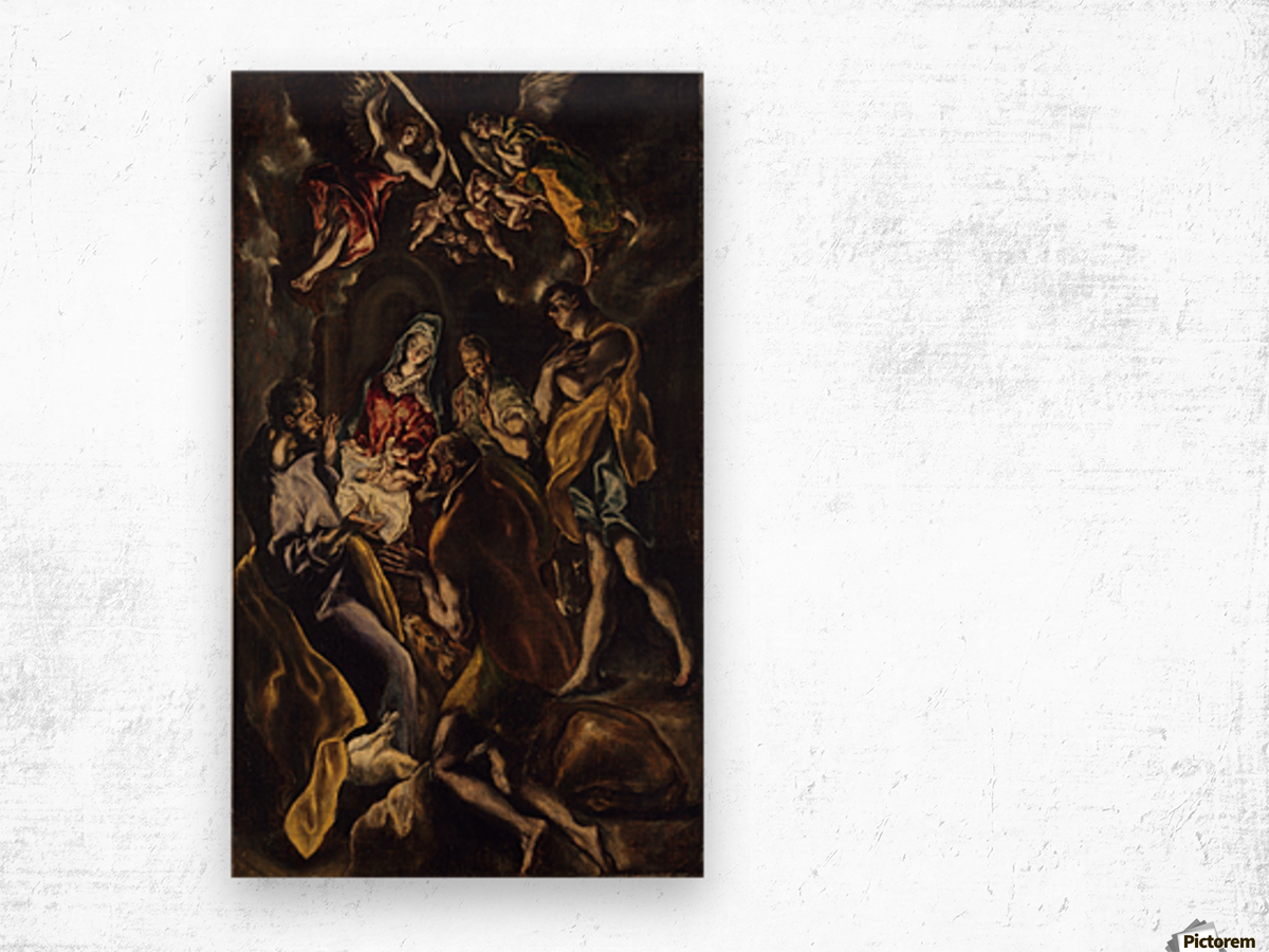 Adoration of the shepherds Wood print