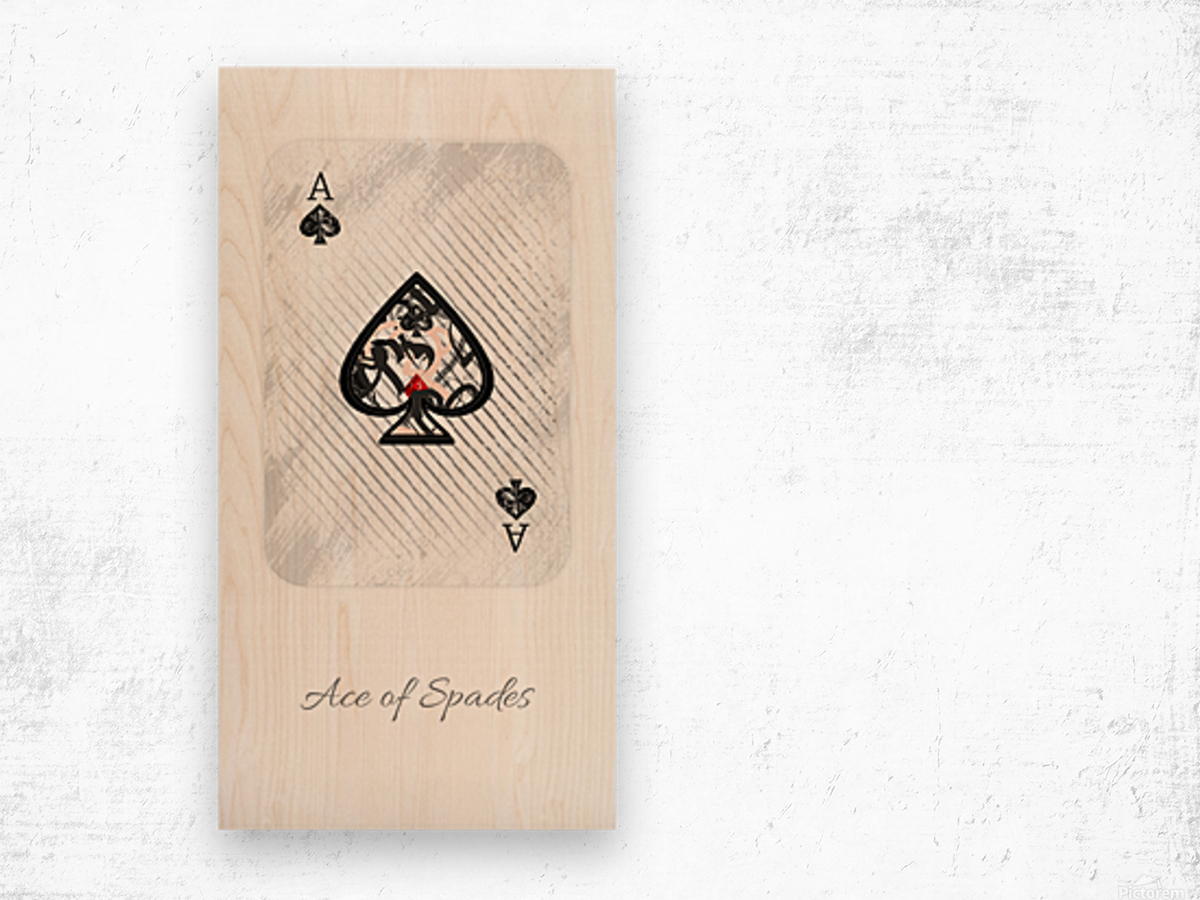 playing cards ace of spades Wood print