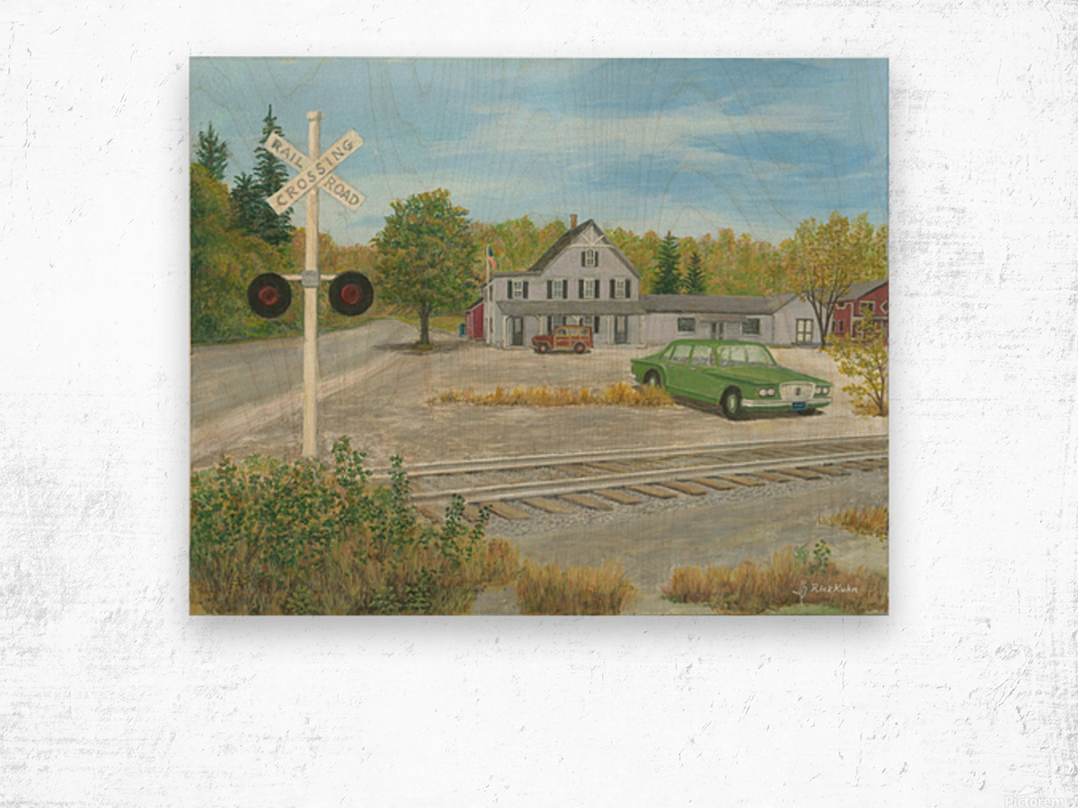 Hawleyville Scene - Newtown Scenes 16X20 Wood print
