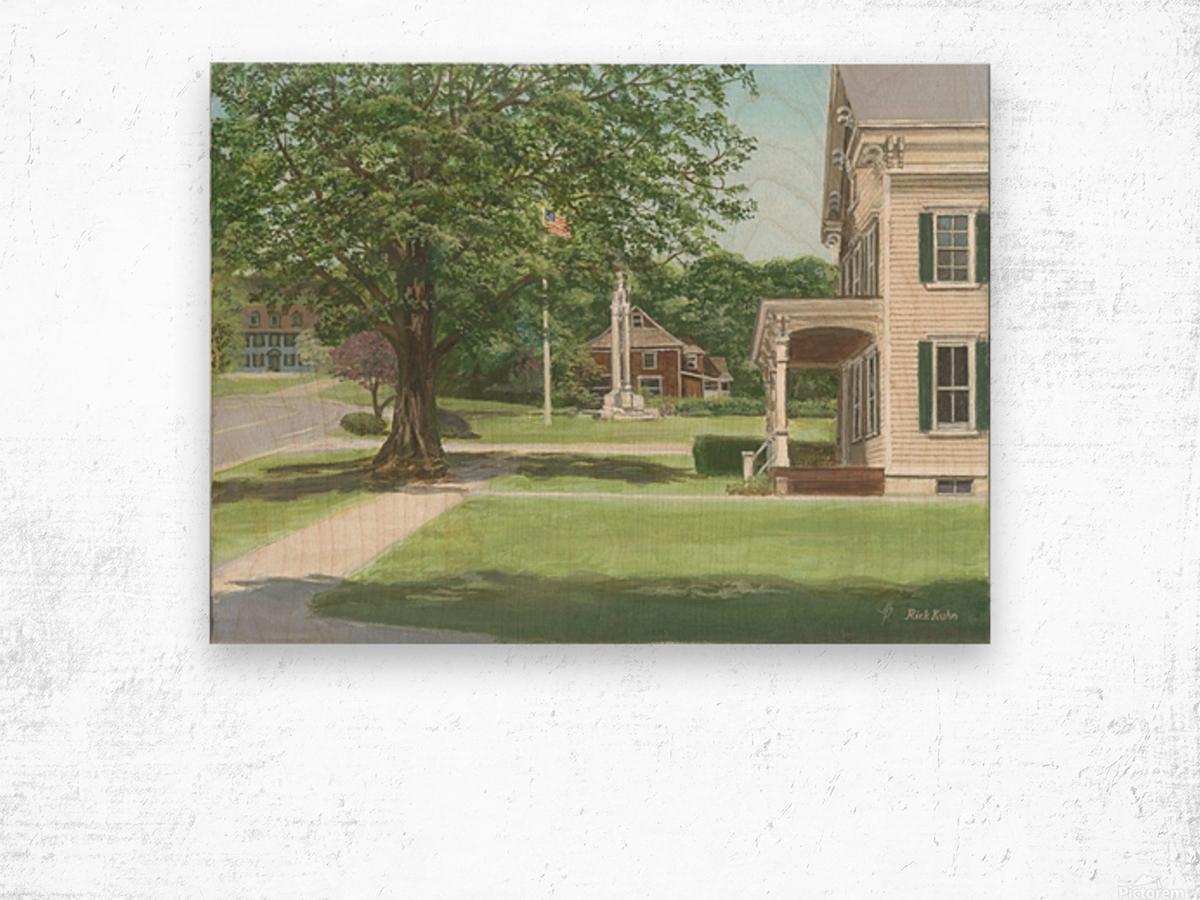 Main Street Monument - Newtown Scenes 16X16 Wood print
