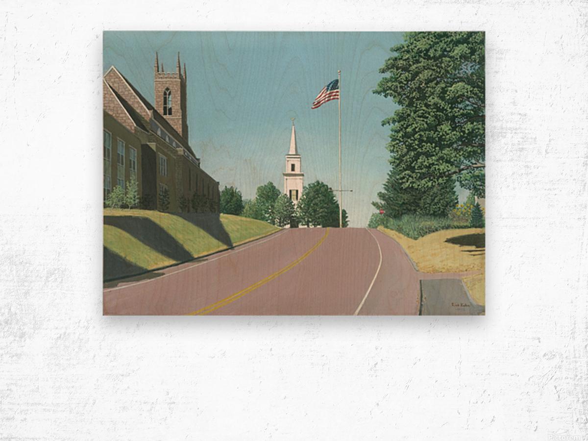 Church Hill Road - Newtown Scenes 12X16 Wood print