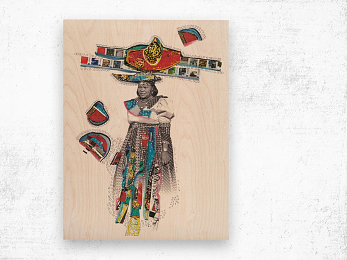 Herero Woman 7 Impression sur bois