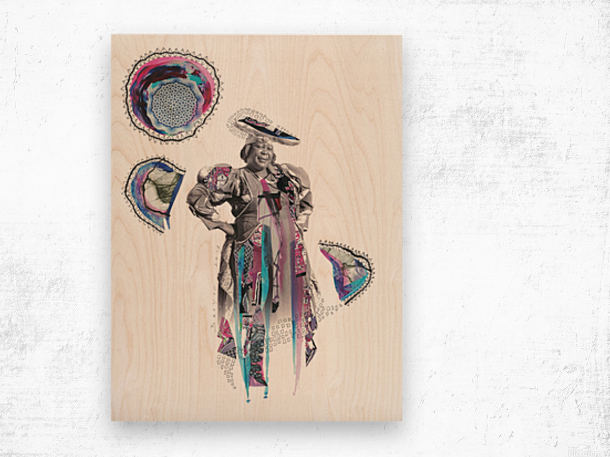 Herero Woman 6 Impression sur bois