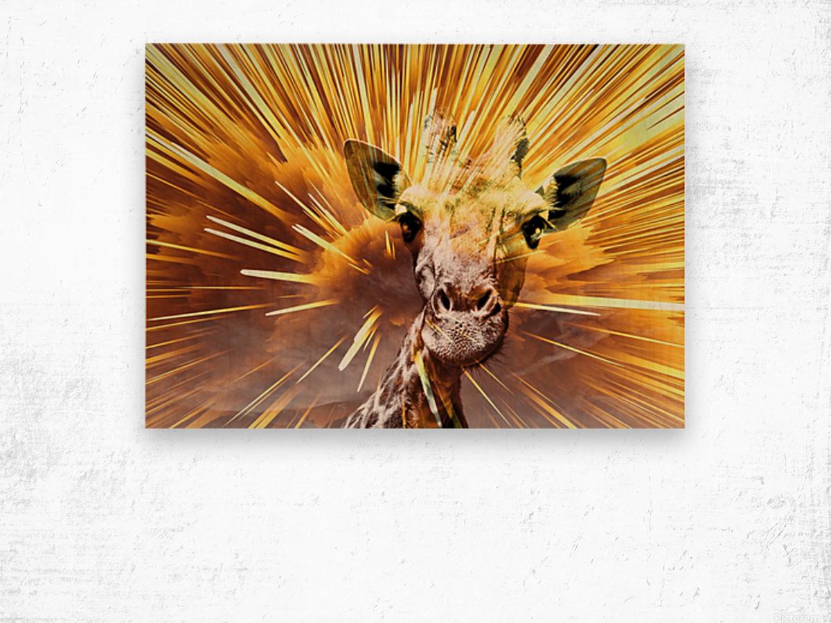 Giraffe pop 7  Wood print