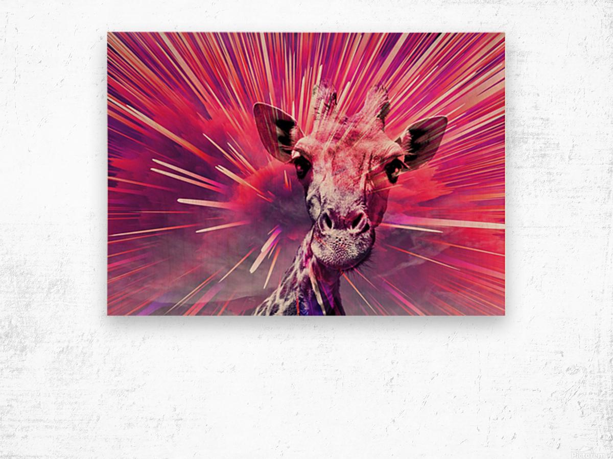 Giraffe pop 5 Wood print