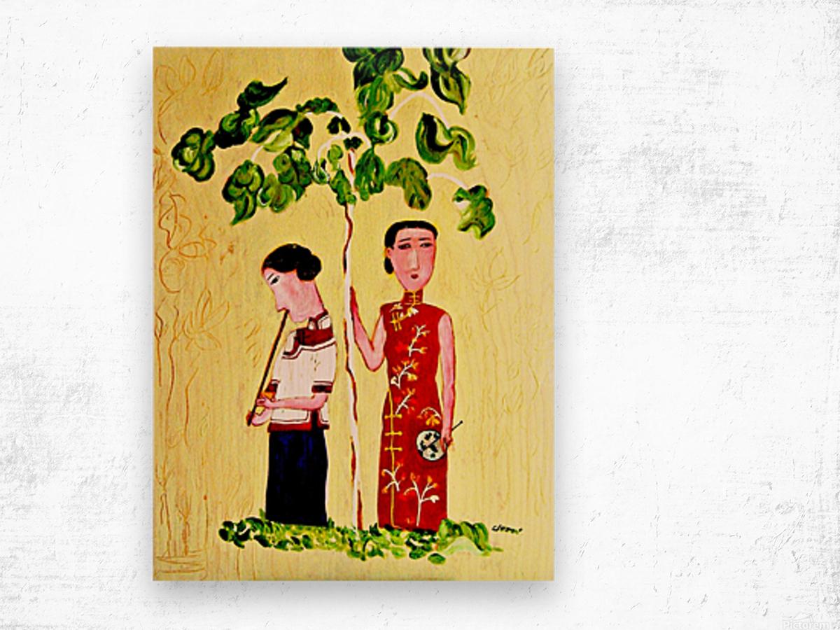 AS - Two Chinese Ladies Wood print