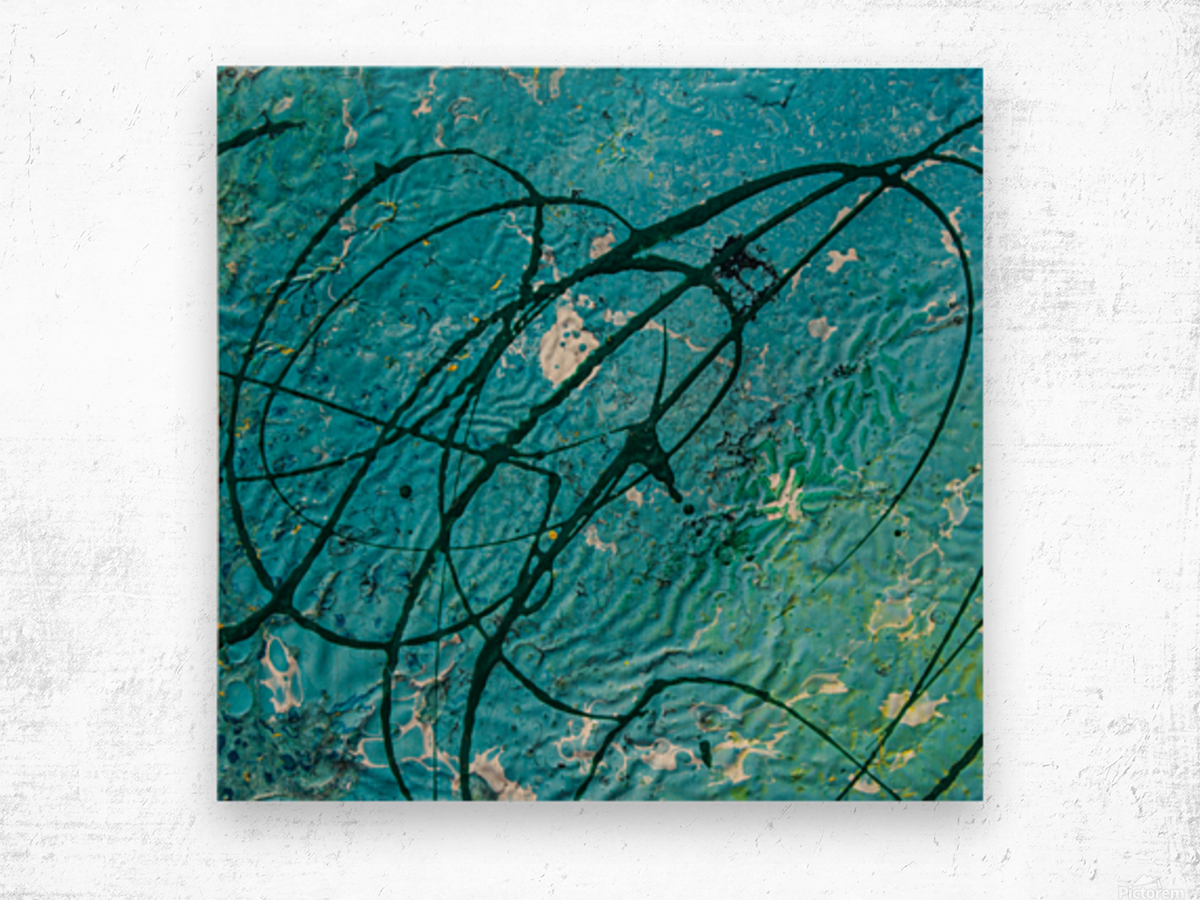 light blue abstract Wood print