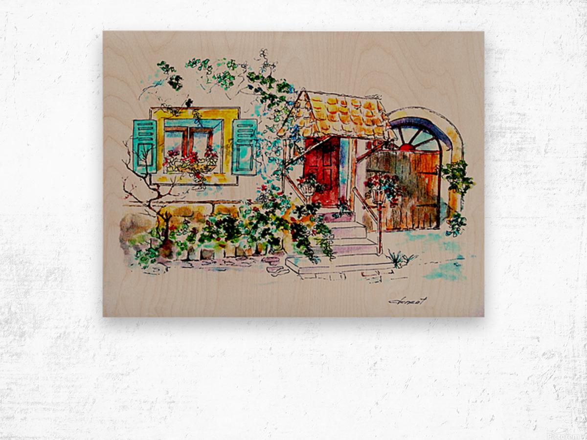 PTS - My House Wood print