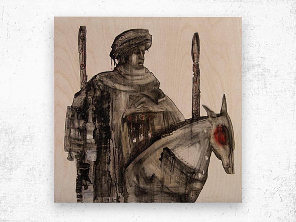 Shadow horserider 5 Wood print