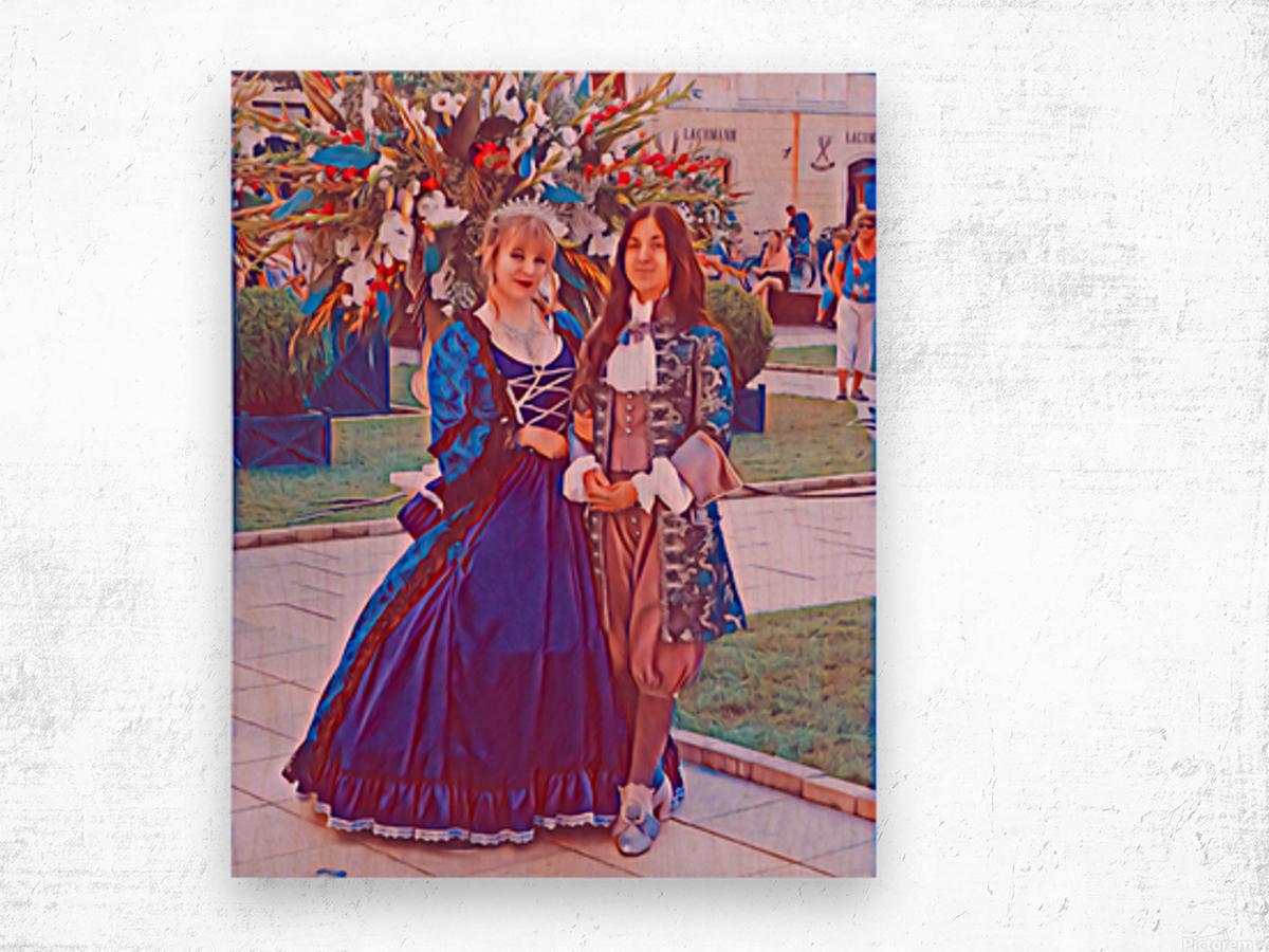 The infant womans partner Wood print