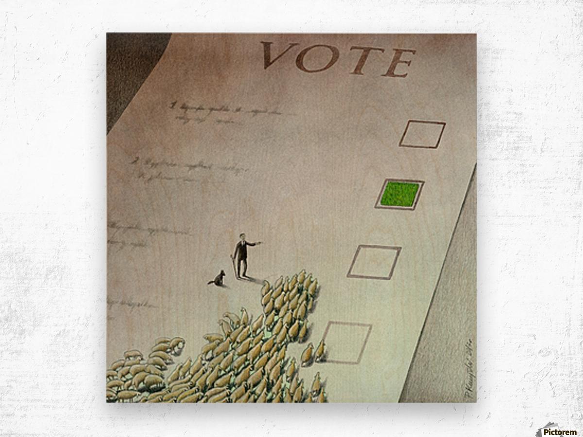 Vote Wood print