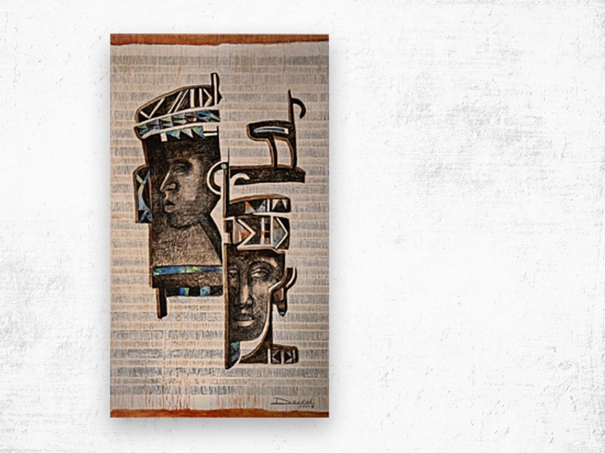 Cubic Africa 1 Impression sur bois