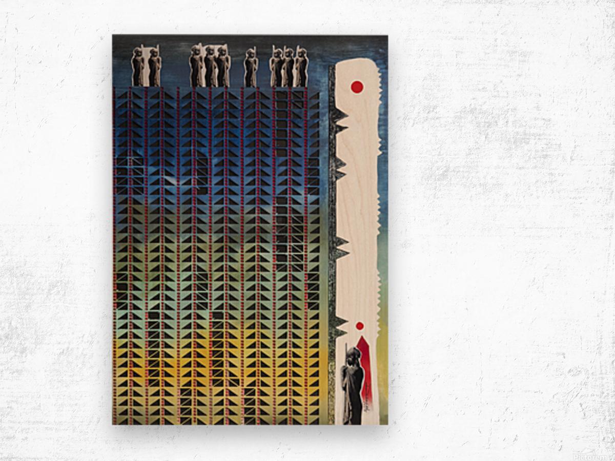 Mozaik 3-cubic Wood print