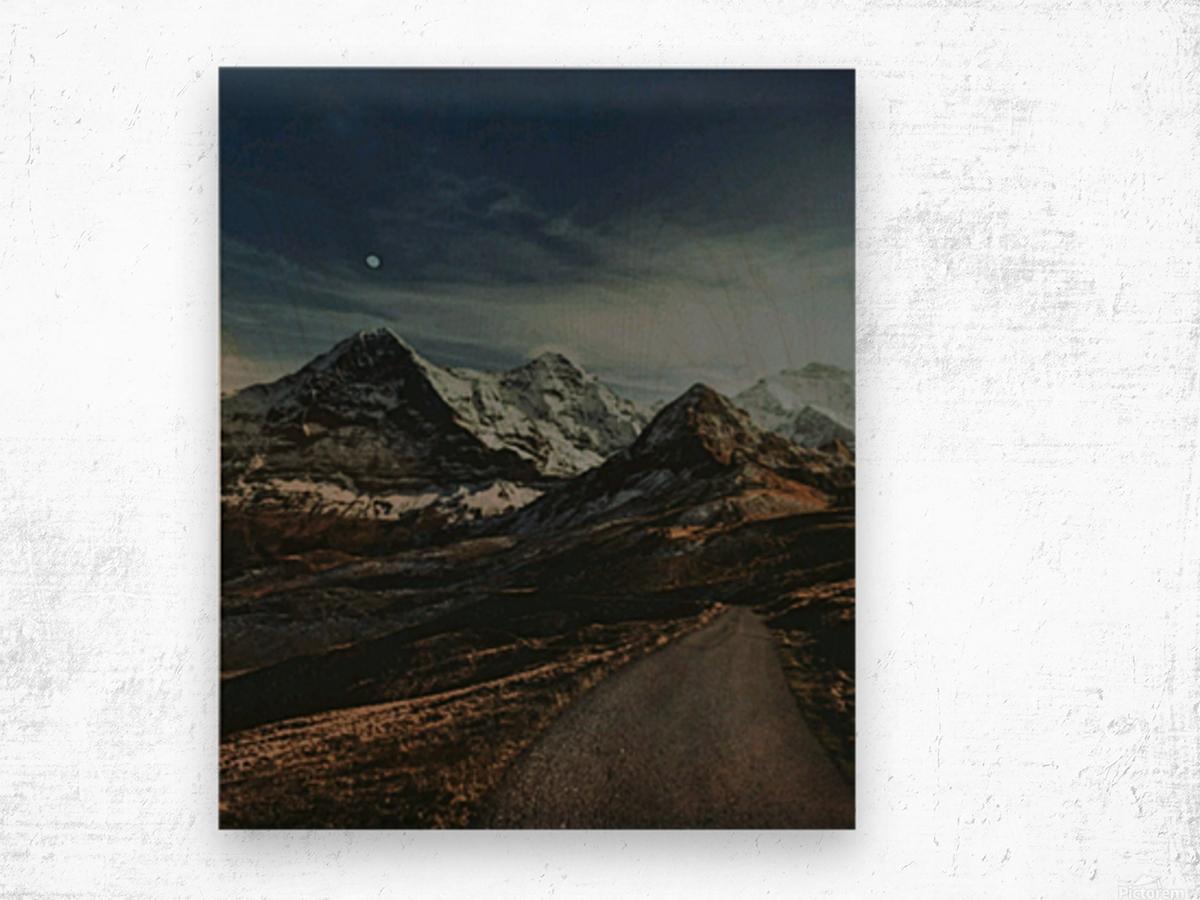 The Long Road Traveled Wood print