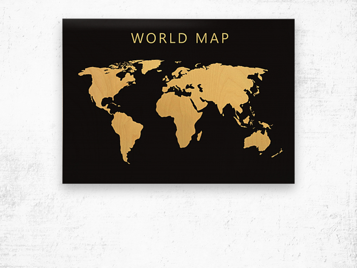 map world 2 Wood print