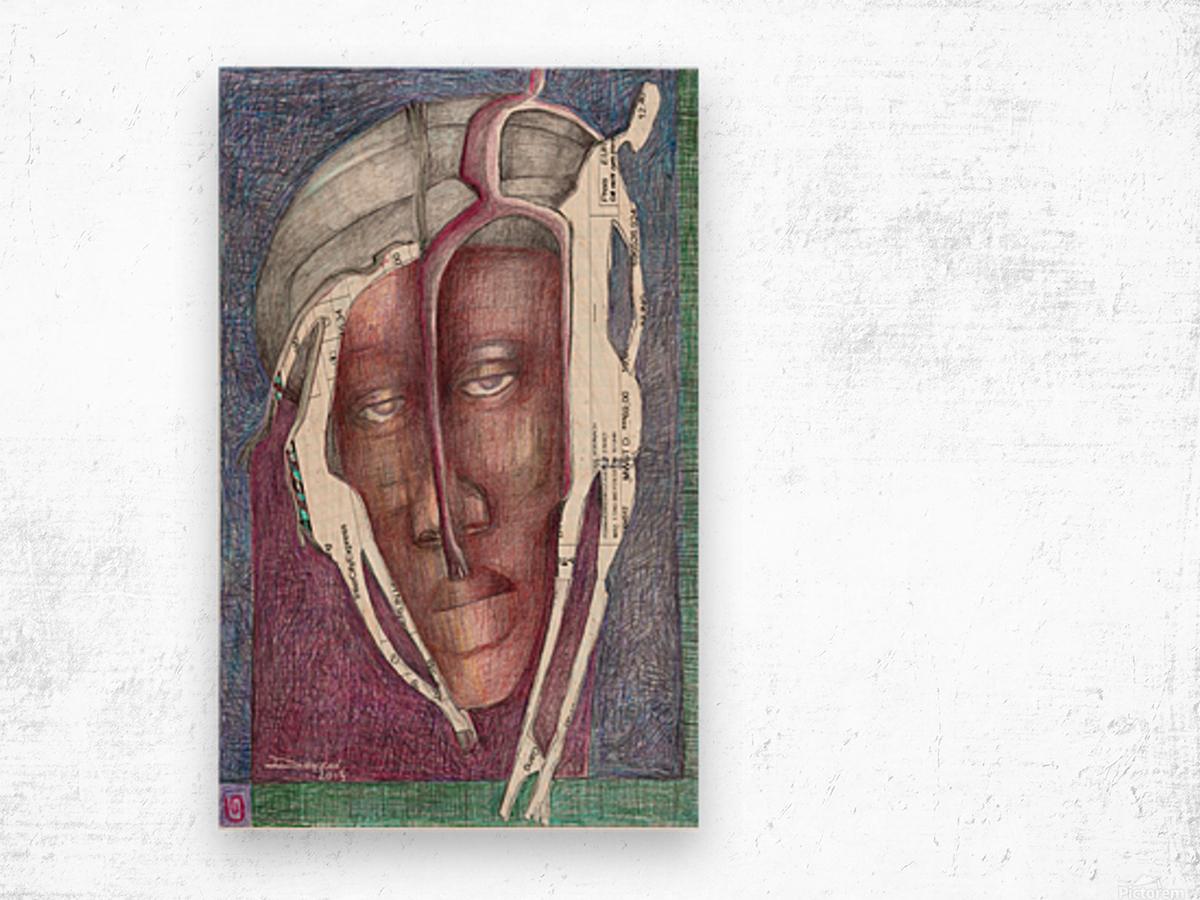 homme au turban Wood print
