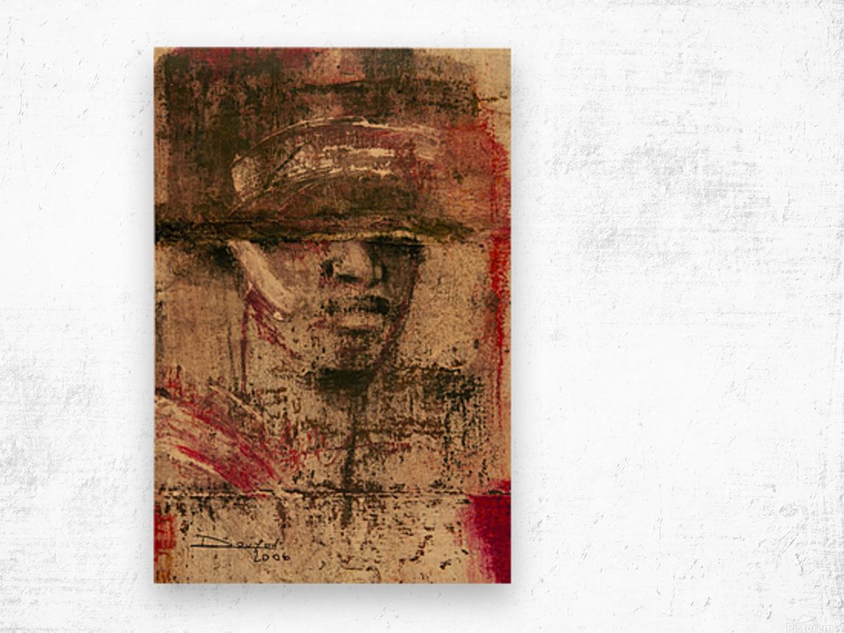 homme du sud Wood print