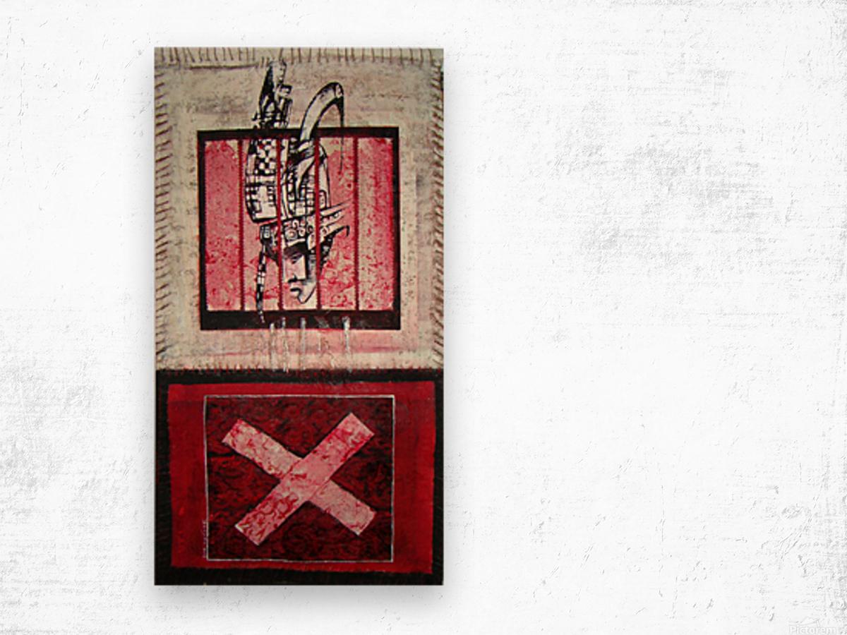 en_noir_et rouge Wood print