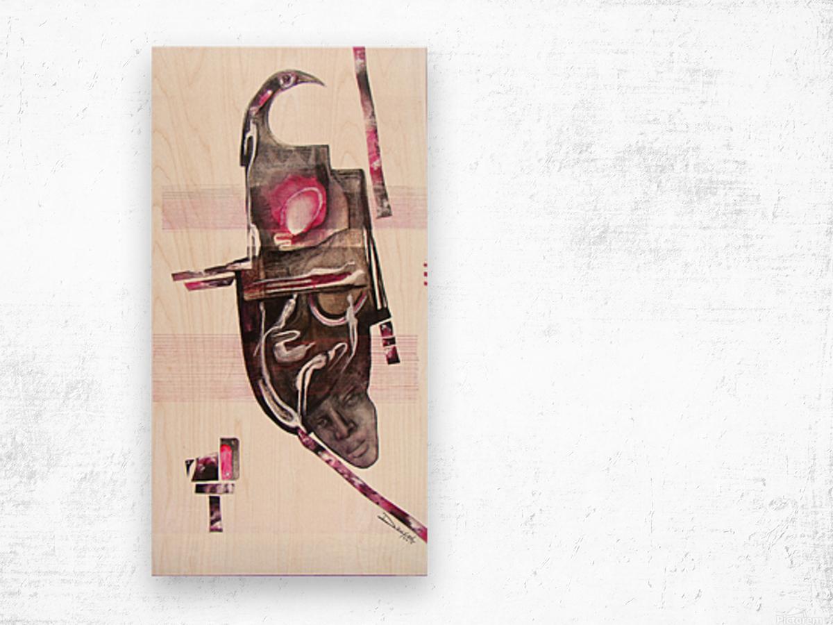 noir_blanc_rose Impression sur bois
