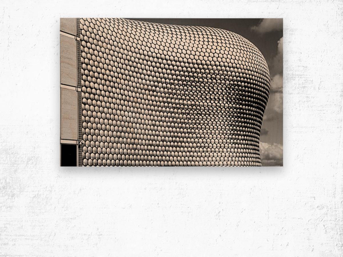 Selfridge Building Birmingham Wood print