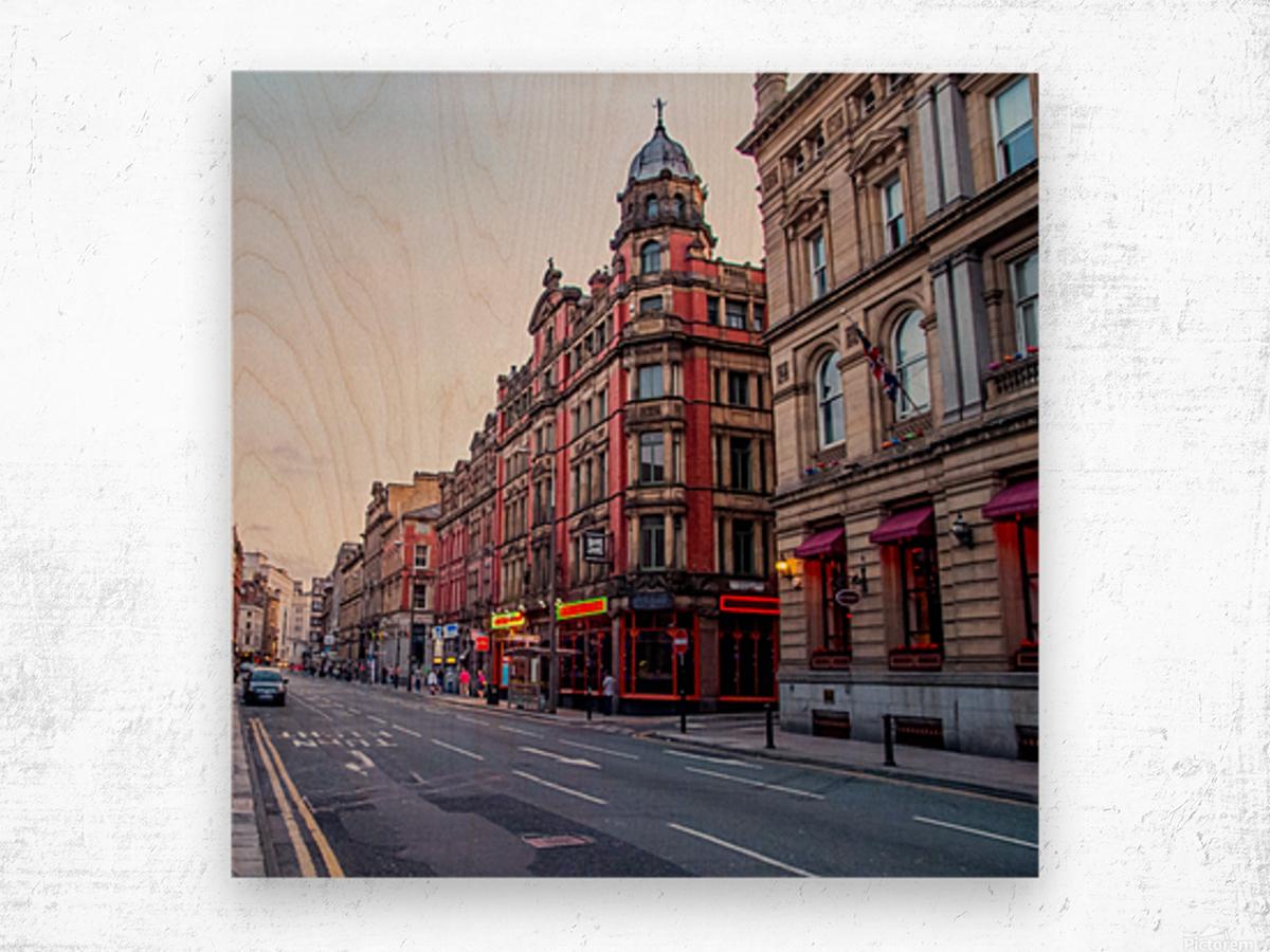 Liverpool street Wood print