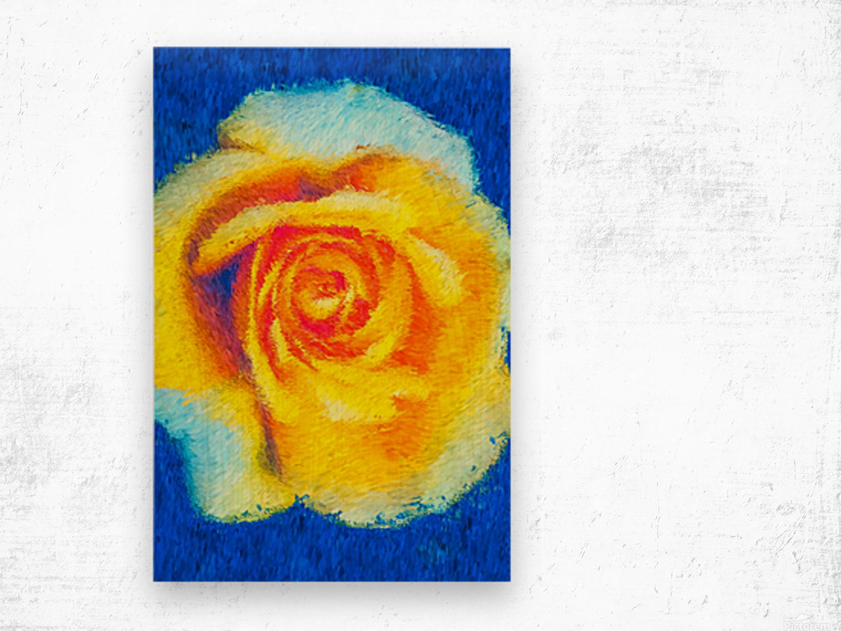 Floating Rose Wood print