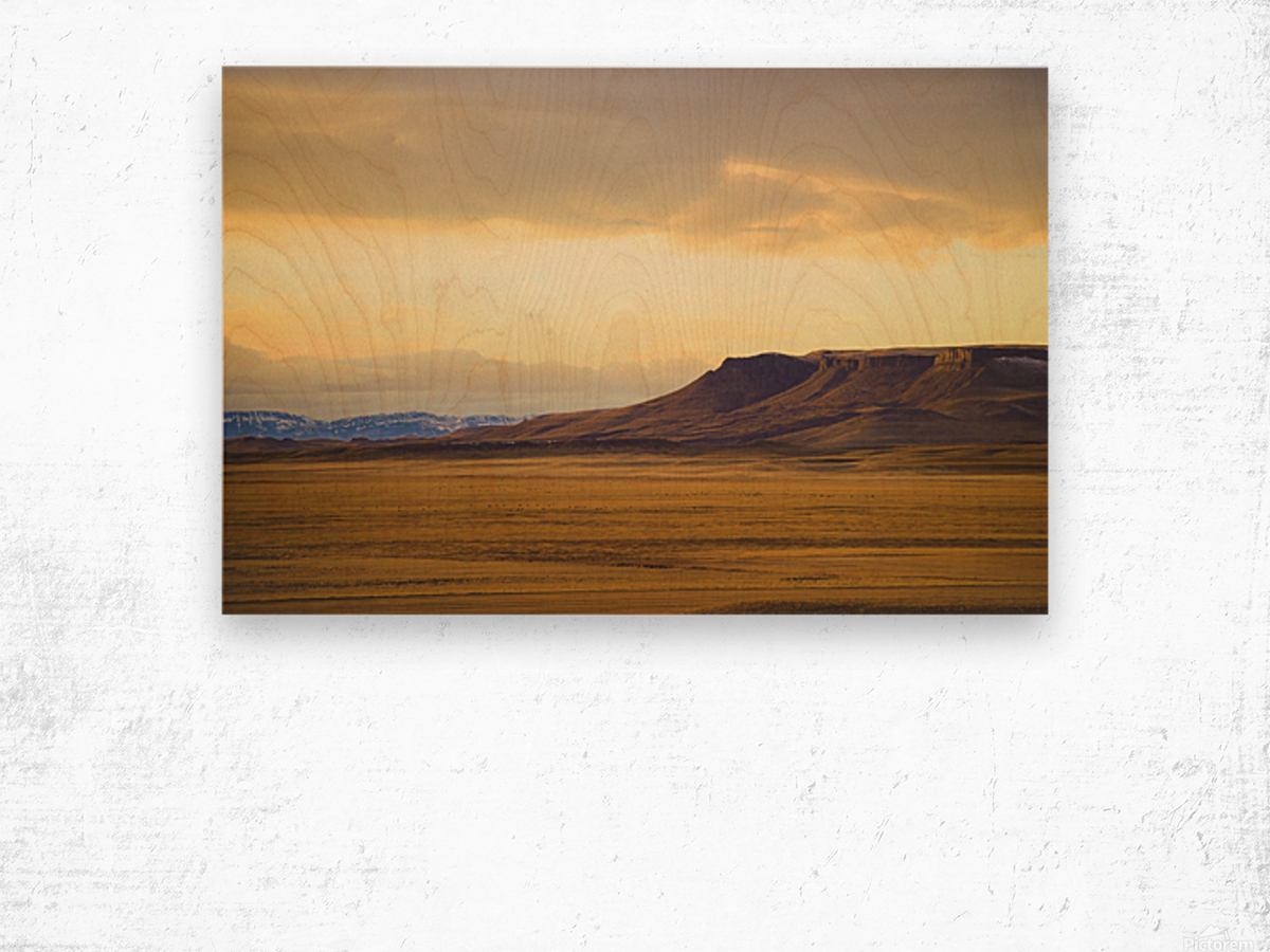 Square Butte Wood print