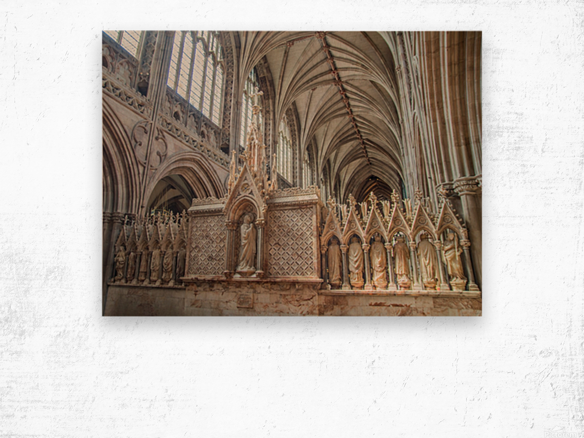 Litchfield Cathedral 3 Wood print