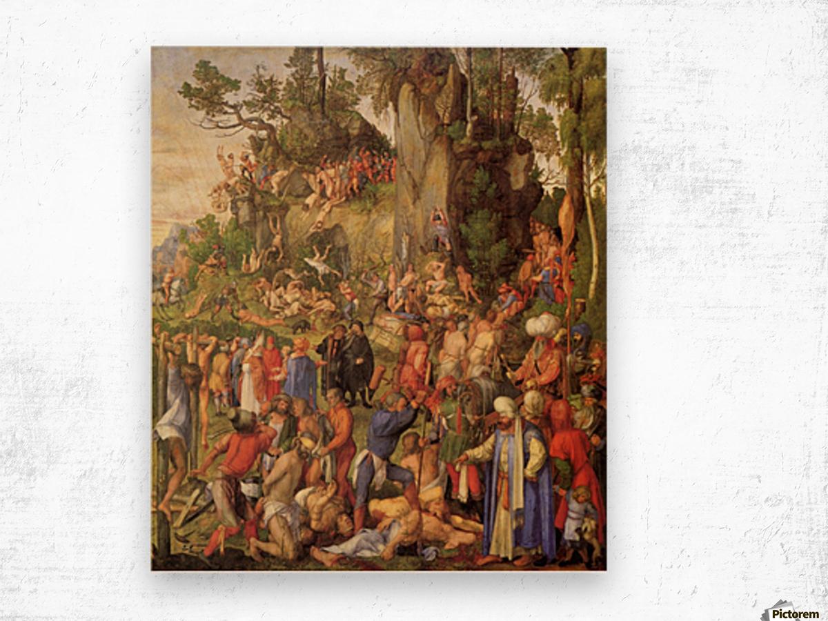 Marter der zehntausend Christen Wood print