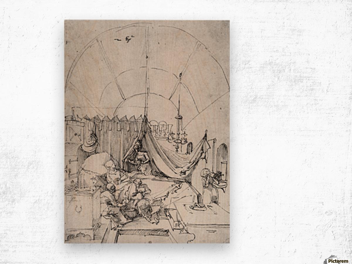 Birth of Mary Wood print