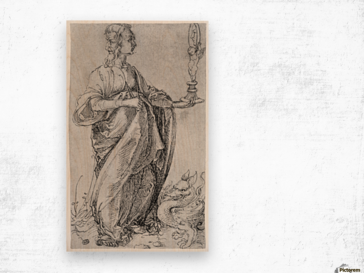 Drawing from the tarot-prudence Wood print