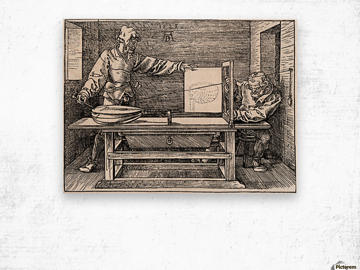 Man drawing a Lute Wood print