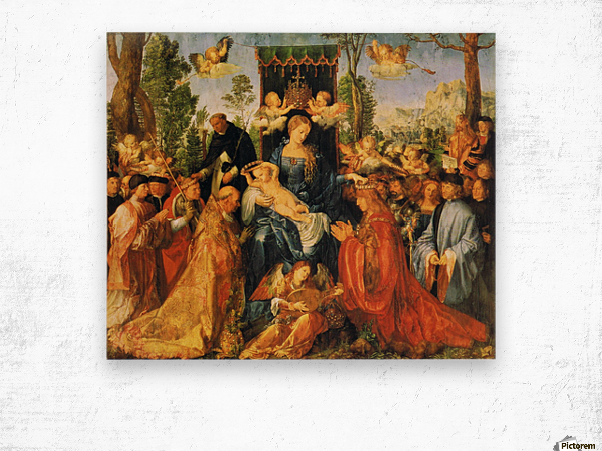 Feast of the Rose Garlands Wood print