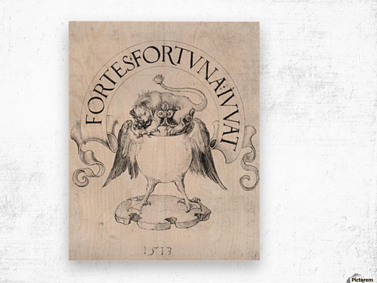 Fortes fortuna Ivvat Wood print
