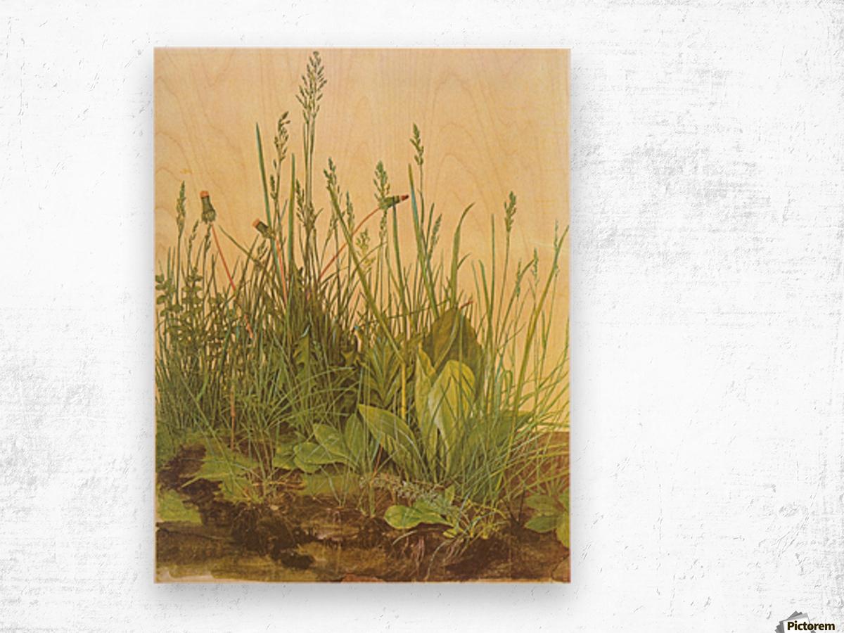 The large turf Wood print