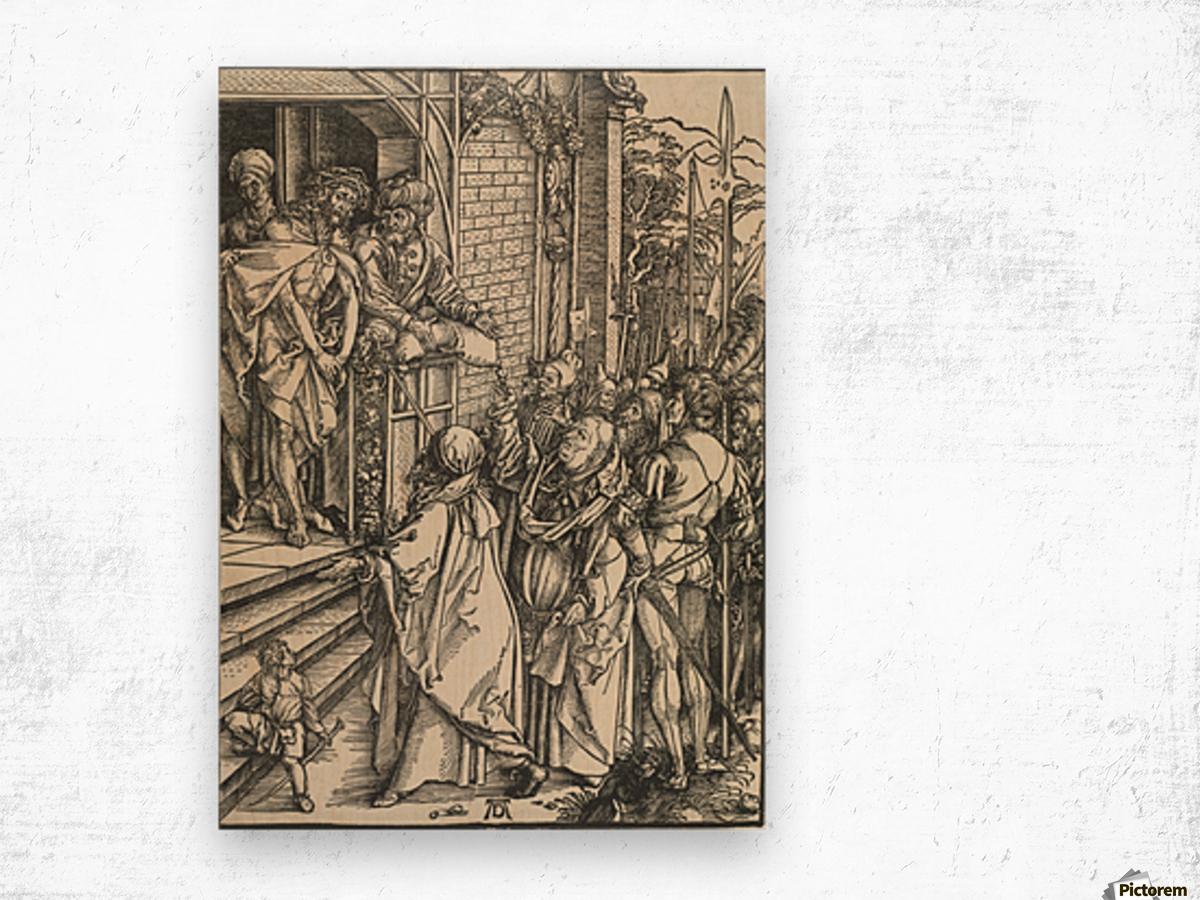 Jesus Christ taken to public Wood print