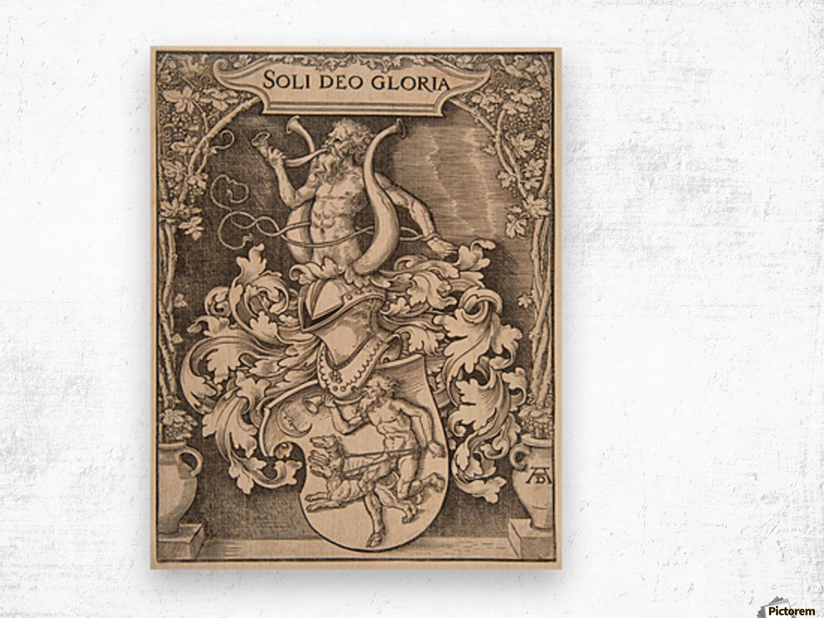 Coat of Arms of Johann Tscherte Wood print