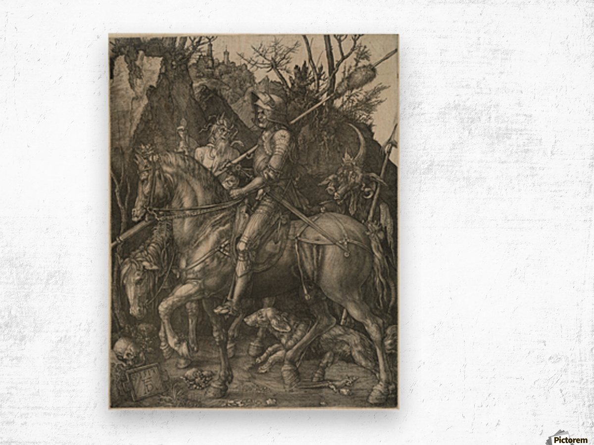German knight Wood print
